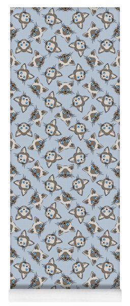 Siamese Cat Face With Blue Eyes Light Yoga Mat