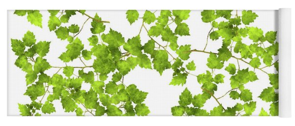 Hawthorn Pressed Leaf Art Yoga Mat