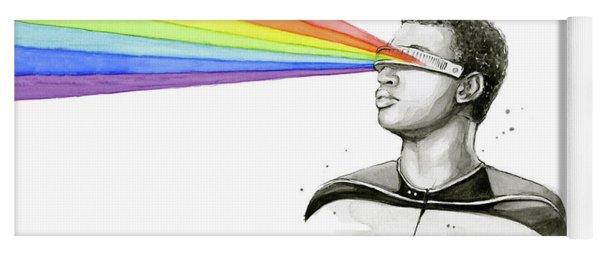 Geordi Sees The Rainbow Yoga Mat