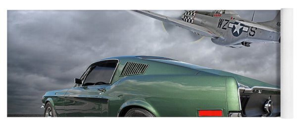 P51 With Bullitt Mustang Yoga Mat