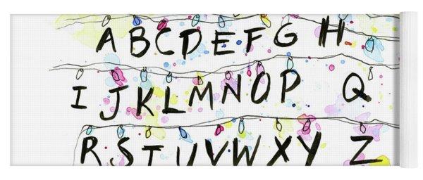 Stranger Things Alphabet Wall Christmas Lights Yoga Mat