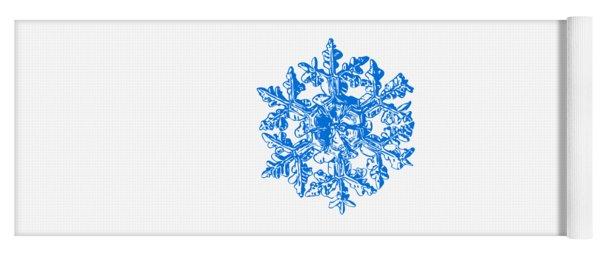 Snowflake Vector - Gardener's Dream White Version Yoga Mat