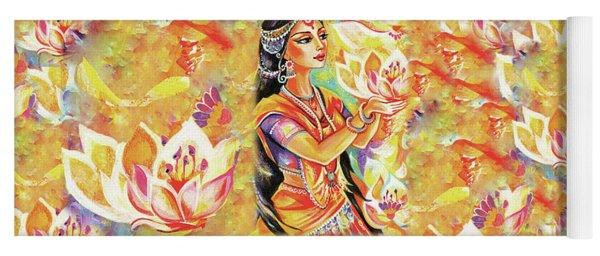 Pray Of The Lotus River Yoga Mat