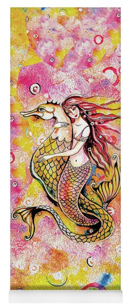 Black Sea Mermaid Yoga Mat
