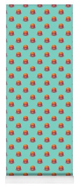 Burger Isometric - Plain Mint Yoga Mat