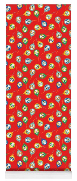 Colorful Circus Clown Balloons  Yoga Mat