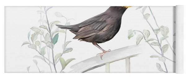 Ms. Blackbird Is Brown Yoga Mat