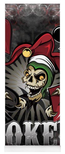 Joker Poker Skull Yoga Mat