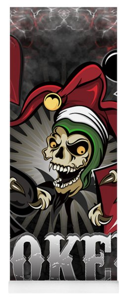 Joker Poker Skull Yoga Mat