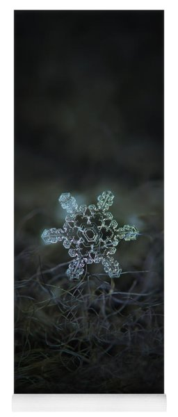 Yoga Mat featuring the photograph Real Snowflake - Slight Asymmetry New by Alexey Kljatov