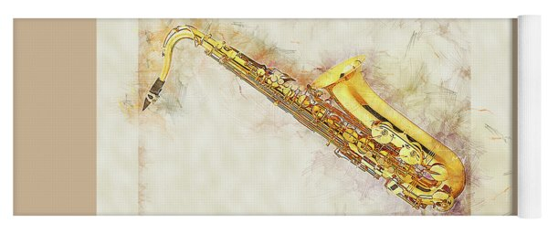 Cool Saxophone Yoga Mat