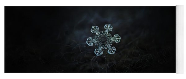 Yoga Mat featuring the photograph Real Snowflake - Ice Crown New by Alexey Kljatov