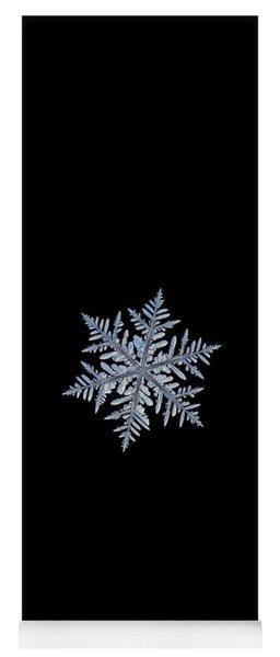 Real Snowflake - Silverware Black Yoga Mat