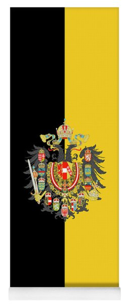 Yoga Mat featuring the digital art Habsburg Flag With Imperial Coat Of Arms 2 by Helga Novelli