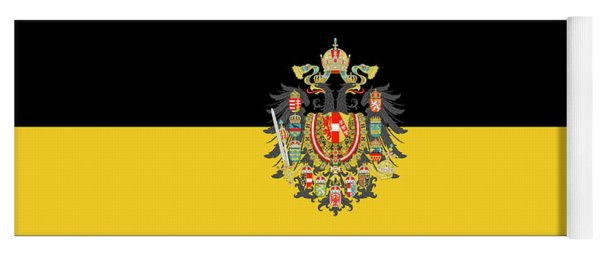 Yoga Mat featuring the digital art Habsburg Flag With Imperial Coat Of Arms 1 by Helga Novelli