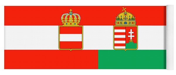 Merchant Ensign Of Austria-hungary 1869-1918 Yoga Mat