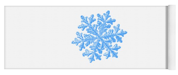 Snowflake Vector - Hyperion White Yoga Mat