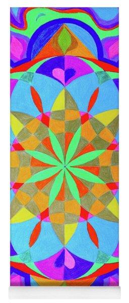 Flower Of Life Mandala Yoga Mat