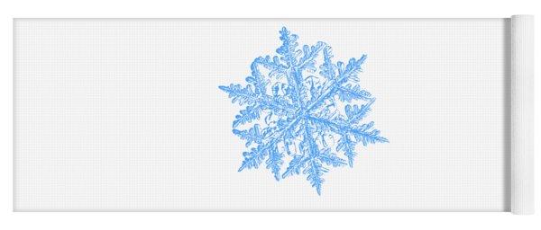 Snowflake Vector - 2017-02-13_3 White Yoga Mat