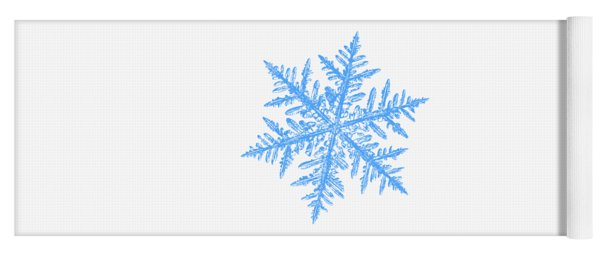 Snowflake Vector - Silverware White Yoga Mat