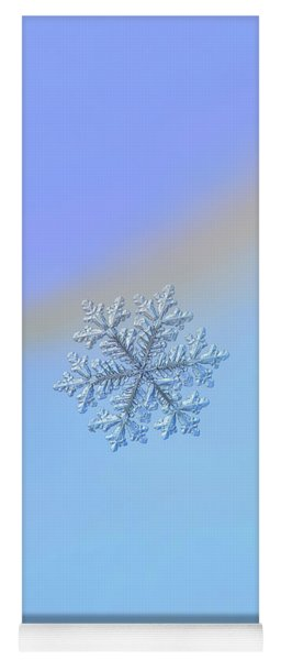 Yoga Mat featuring the photograph Real Snowflake - Hyperion by Alexey Kljatov