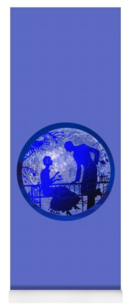Blue Moonlight Lovers Yoga Mat