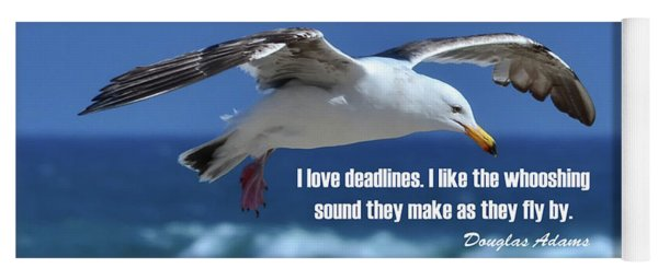 I Love Deadlines Douglas Adams Yoga Mat