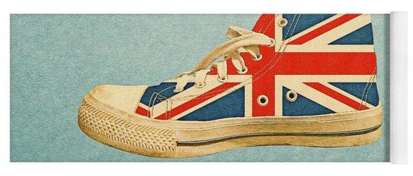 Hi Top With England Flag Yoga Mat