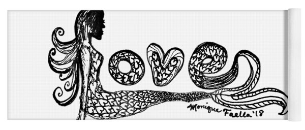 Mermaid Love Yoga Mat