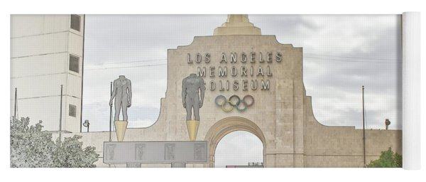 Los Angeles Memorial Coliseum  Yoga Mat