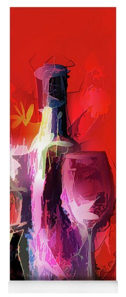 Fun Colorful Modern Wine Art   Yoga Mat