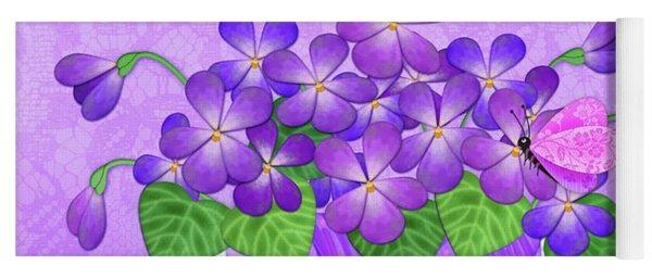 V Is For Violets Yoga Mat
