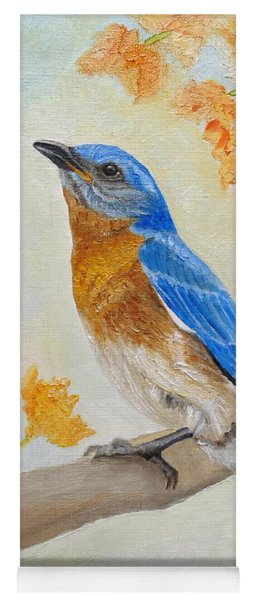 Eastern Bluebird Among Flowers Yoga Mat