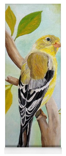 Pretty American Goldfinch Yoga Mat