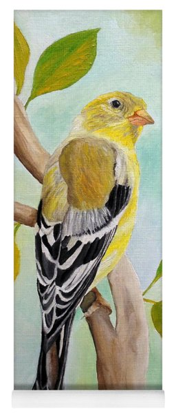Pretty American Goldfinch Yoga Mat