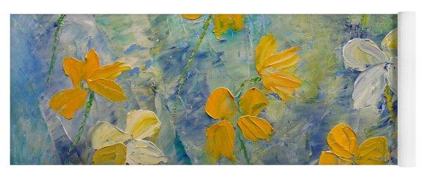 Blossoms In Breeze Yoga Mat
