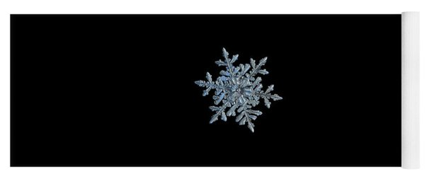 Snowflake 2018-02-21 N1 Black Yoga Mat
