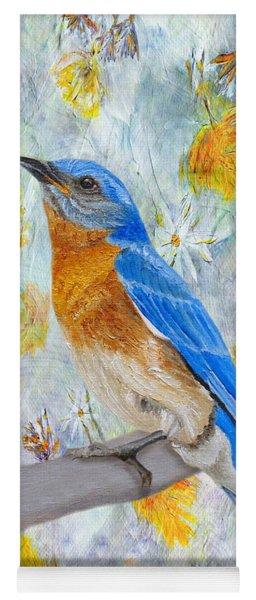 Springtime Eastern Bluebird Yoga Mat