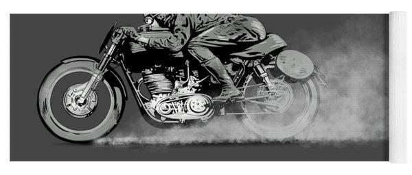 The Motorcycle Dust Devil Yoga Mat