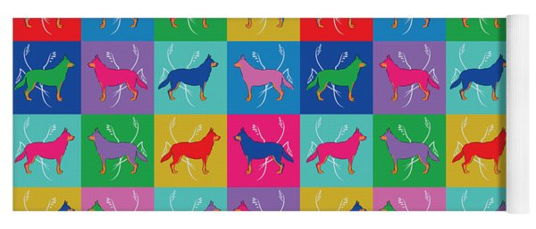 Pop Art German Shepherd Dogs Yoga Mat
