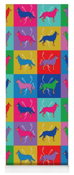 Pop Art German Shepherd Dogs Yoga Mat
