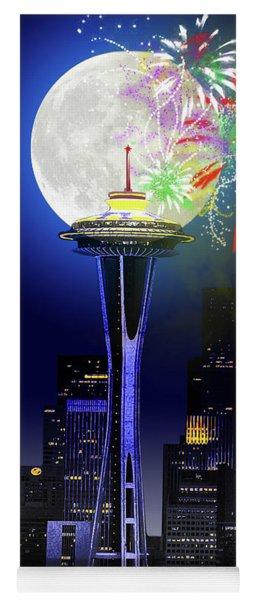 Seattle Skyline Yoga Mat