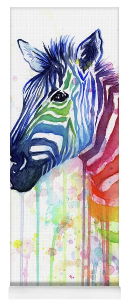 Rainbow Zebra - Ode To Fruit Stripes Yoga Mat
