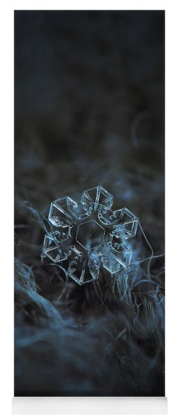 Yoga Mat featuring the photograph Snowflake Photo - The Core by Alexey Kljatov