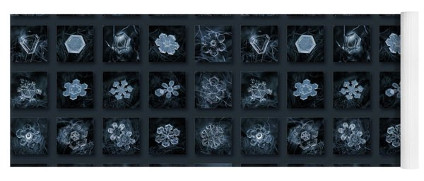 Snowflake Collage - Season 2013 Dark Crystals Yoga Mat
