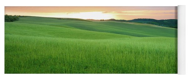 Yoga Mat featuring the photograph As The Sun Goes Down In Tuscany by IPics Photography