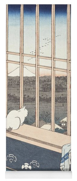 Asakusa Rice Fields And Festival Of Torinomachi From The Series One Hundred Famous Views Of Edo Yoga Mat