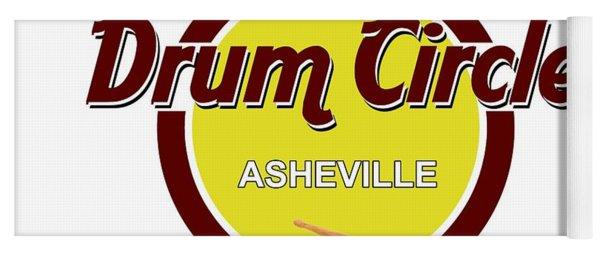 Asheville Drum Circle Logo Yoga Mat