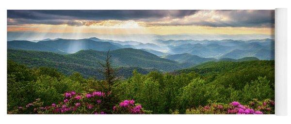Asheville Nc Blue Ridge Parkway Scenic Landscape Photography Yoga Mat