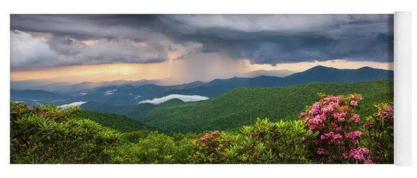 Asheville North Carolina Blue Ridge Parkway Thunderstorm Scenic Mountains Landscape Photography Yoga Mat